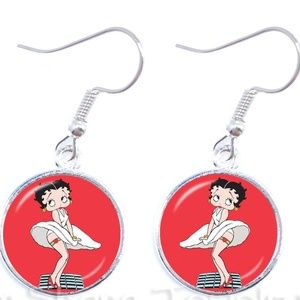 BETTY BOOP Earrings Cabochon Iconic Marilyn Pose
